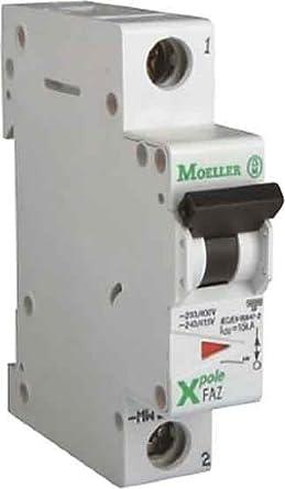 EATON FAZ-S1/1 Interruptor Automático Magnetotérmico FAZ, 1A, 1P, Curva S, Caja de 12: Amazon.es: Industria, empresas y ciencia