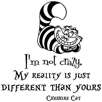 amazon alice in wonderland wall decal quote vinyl sticker Real and Fake Friends alice in wonderland wall decal quote vinyl sticker decals quotes i m not crazy wall