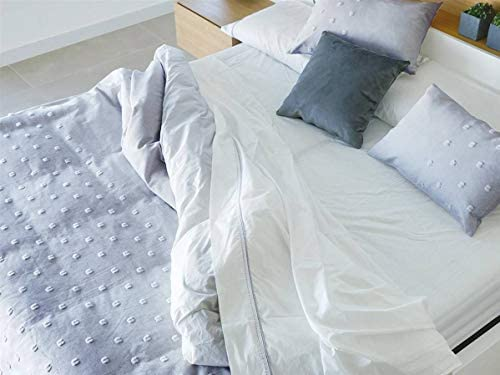 Algodon Blanco - Funda nórdica Snow Cama 150 Cm - Color Gris ...
