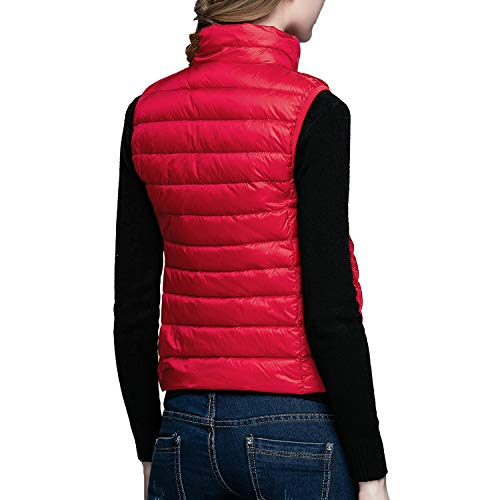 Women's Coat Puffer Packable Jacket Lisli Down Red Vest Vest Jacket Outerwear Lightweight Down BqfddxgFwC
