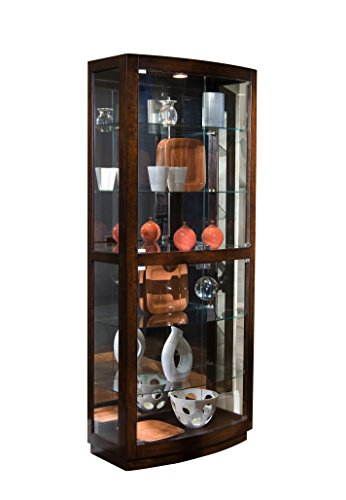 Pulaski Curio, 34 by 17 by 80-Inch, Brown