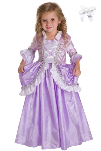[Little Adventures 11213 Royal Rapunzel Princess Costume Ages 5-7 + Free Hair Bow] (The Best Halloween Costumes Ever Made)