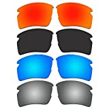 4 Pair ACOMPATIBLE Replacement Polarized Lenses for Oakley Flak 2.0 XL Sunglasses OO9188 Pack P7