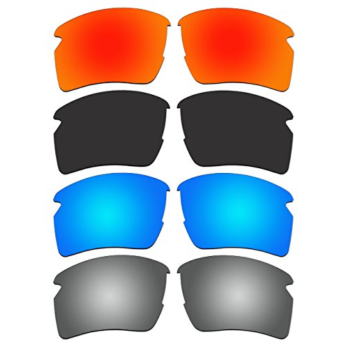 4 Pair ACOMPATIBLE Replacement Polarized Lenses for Oakley Flak 2.0 XL Sunglasses OO9188 Pack - Xl Flak Jacket