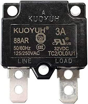 1pc KUOYUH 15A 88AR Series Circuit Breaker 125//250VAC 50//60Hz