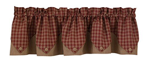 Sturbridge Lined Point Valance - Wine (72