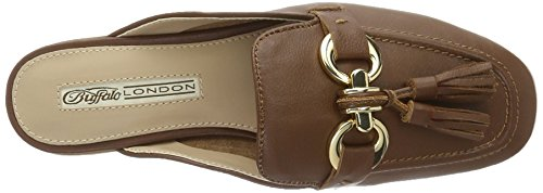 Buffalo London 316-3459 Nappa Lux Lea, Mocasines para Mujer Marrón (BROWN 01)