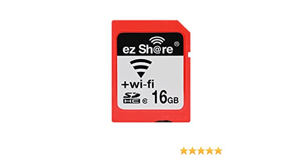 Ez Share SDHC Wifi Tarjeta de Memoria SD de 16 GB, Clase 10 Wireless LAN Inalámbrico para Cámara DSLR Móvil Inteligente iPhone iPad Ordenador Tableta