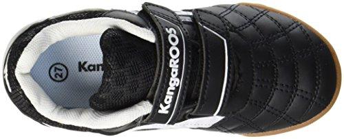 KangaROOS Power Comb V - Zapatilla Baja Unisex Niños Schwarz (Jet Black/White)