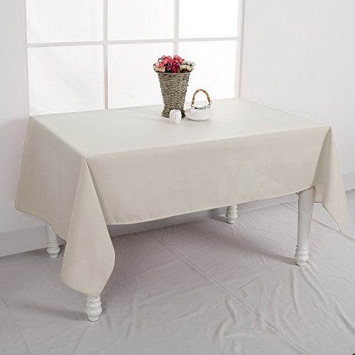 Decorative Rectangle Tablecloth , 60x102-inch, Cream
