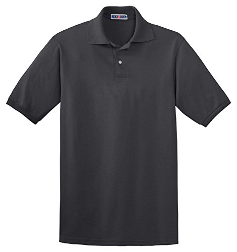 Jerzees+50%2F50+Men%27s+5.6+oz.+Jersey+Polo+with+Spotshield+%28Charcoal+Grey%2C+X-Large%29