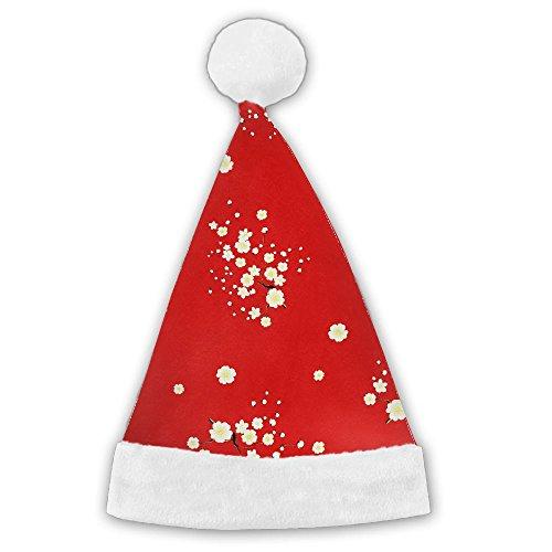 Christmas Hat Or Nice Festive Holiday Hat Velvet Santa Hat With Plush Trim M (Primo Deer Antler Velvet)