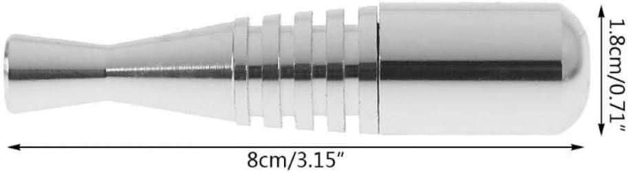 Lankater Bate en Forma de Tubos de Metal para Fumadores Metal de la Novedad de Fumar Tabaco de Pipa