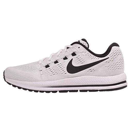 (Nike Air Zoom Vomero 12 Sz 12 Running Mens White/Black-Pure Platinum Shoes)