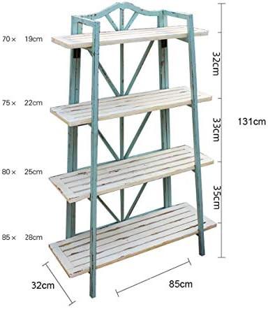 4 Capas de Racks de Flores Pequeños, Racks de Metal de Escalera, Racks de Almacenamiento, Estanterías de Jardinería, Racks de Macetas Azules.: Amazon.es: Jardín