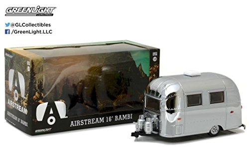 GHT COLLECTION - CHROME AIRSTREAM 16' BAMBI (MJ EXCLUSIVE) Diecast Model Car By Greenlight ()