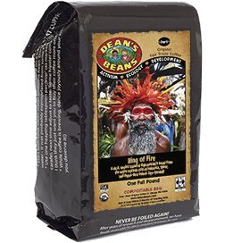 Dean's Beans Organic Coffee Company, Ring of Fire, Ground, 16 Ounce Bag (Organic, Fair Trade and Kosher Certified)