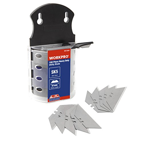 - WORKPRO Utility Knife Blades Dispenser SK5 Steel 100-pack