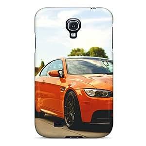 Protective Tpu Cases With Fashion Design For Galaxy S4 (bmw M3 E92 Orange)