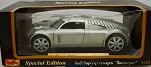 Maisto - Audi - Supersportwagen Rosemeyer - Special Edition - 1:18 Scale - Silver - Limited Edition - Mint - Collectible - (PR)