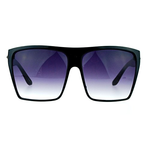 Womens Extra Oversized Flat Top Mobster Rectangular Sunglasses - Glasses Mobster