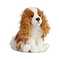 Sitting King Charles Spaniel Plush Soft Toy by Living Nature