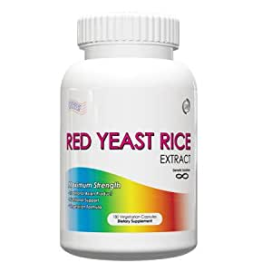 Amazon.com: Red Yeast Rice Extract 1200mg, 180 Vegetarian