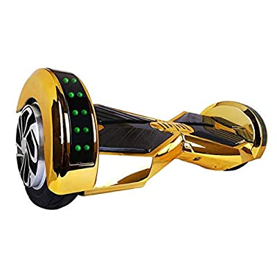 Gold Lamborgini Hoverboard Lambo Super Fast Safe Smart Two Wheel Self Balancing Electric Scooter Rider Hover Board Skateboard Fly Glider Roller UL2272 Certified: Sports & Outdoors