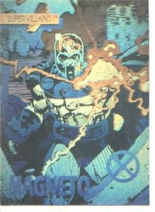 (Impel Advance Comics 1991 Marvel X-Men Villans Magneto Gold Hologram Promo Card)