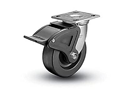 "Colson Swivel Plate Caster Heavy Duty Phenolic 8"" x 2"" Wheel & Total Lock Brake"