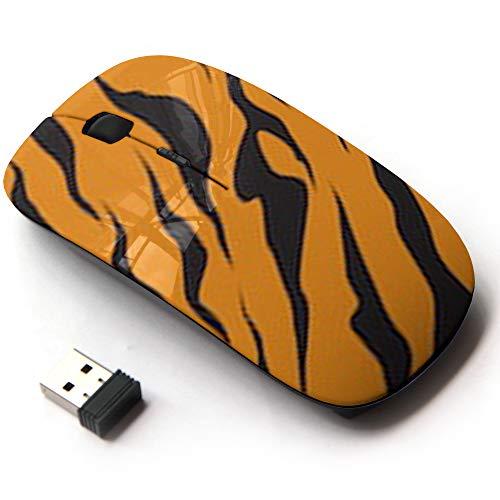 Ergonomic Optical 2.4G Wireless Mouse - Stripe Animals Jungle Tiger Fur