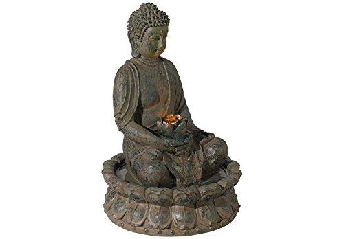 Evre Indoor Buddha Fountain Decoration w/ LED Lighting - Bronze 40cm