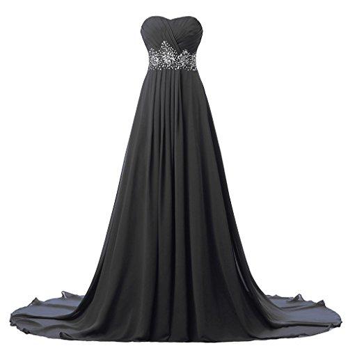 Kleid schwarz lang tragerlos