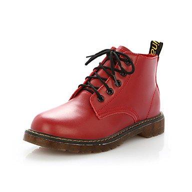 Falder Rød Gll Blonder Lyserød Vinter Innovativ Brun Komfort Flad Pink Støvler Hvid Pu Kvinder Afslappet Sort Xuezi Hæl Bekæmpe wagA1xUqaY