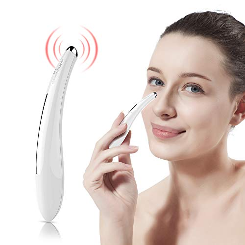 TOUCHBeauty Sonic Vibration Eye Massager, 40℃ Heated Wand, Relieves Dark Circles and Puffiness Eye & Facial Skin Care Device TB-1583