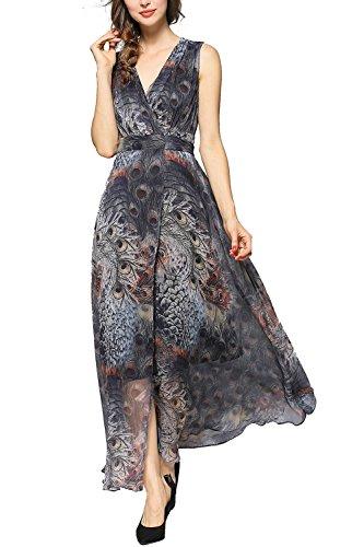 long black peacock dress - 9