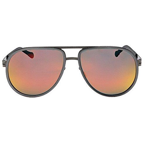 Couleurs Red de Polarisées Femmes Yxsd des UV des Gray de Protection Hommes Lunettes Couleur d'aviateur 400 Soleil aa81zpq