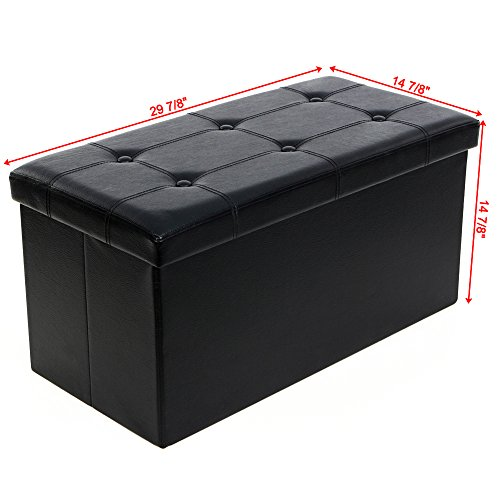 Songmics Folding Storage Ottoman Coffee Table Foot Rest