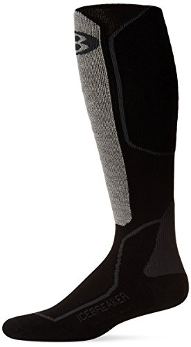 - Icebreaker Men's Skier + Lite Alpine Sock (Oil/Black/Silver, Small)