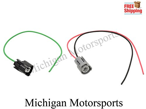 Michigan Motorsports VTEC Oil Pressure Switch and VTEC Solenoid Plug Pigtail Kit- Fits Honda Civic (Honda Prelude Vtec)