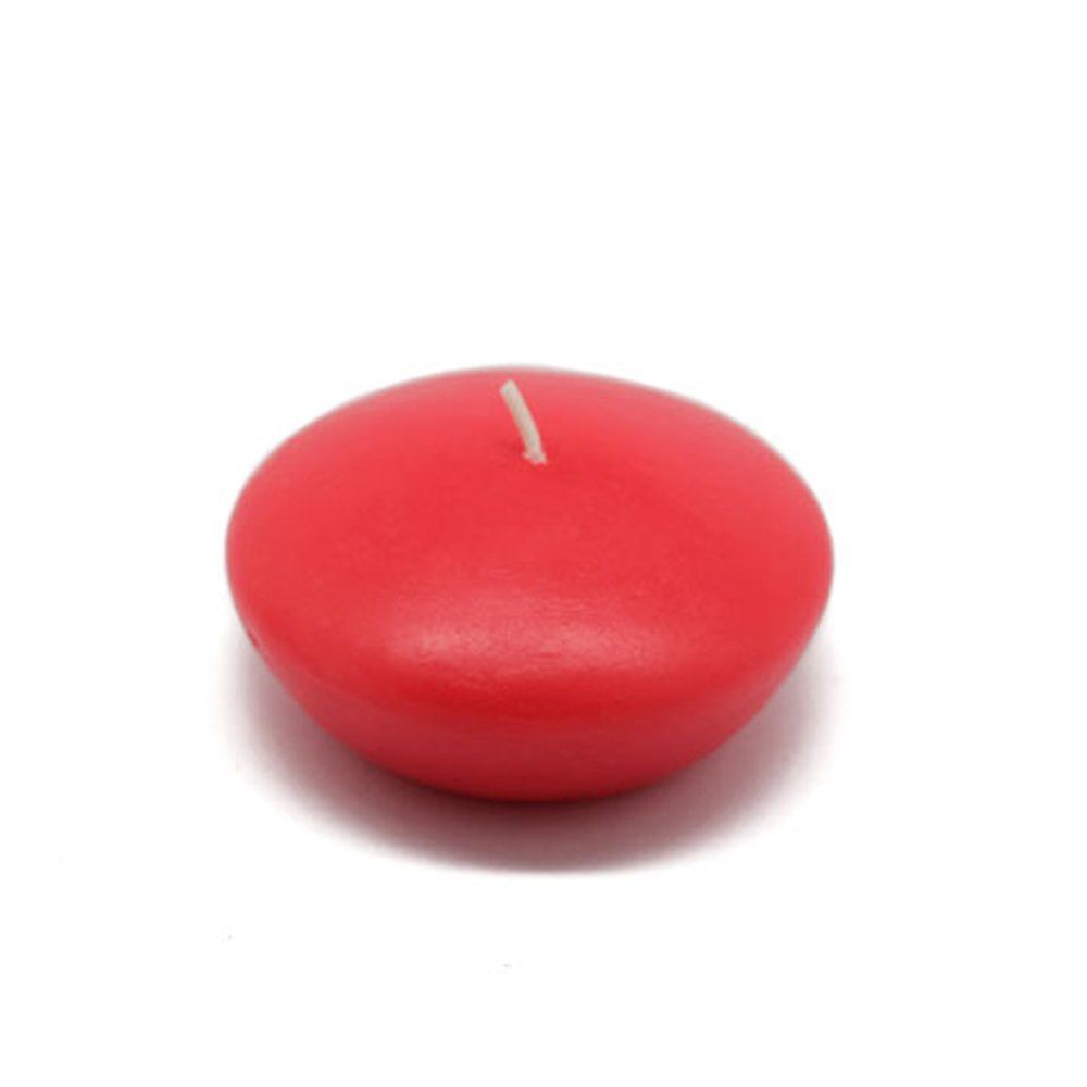 Zest Candle CFZ-051_12 144-Piece Floating Candle, 3'', Ruby Red by Zest Candle