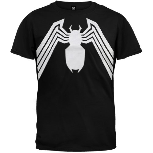 [T-Shirt - Spider-Man - Venom Logo Men's Black Size S] (Marvel Angela New Costume)