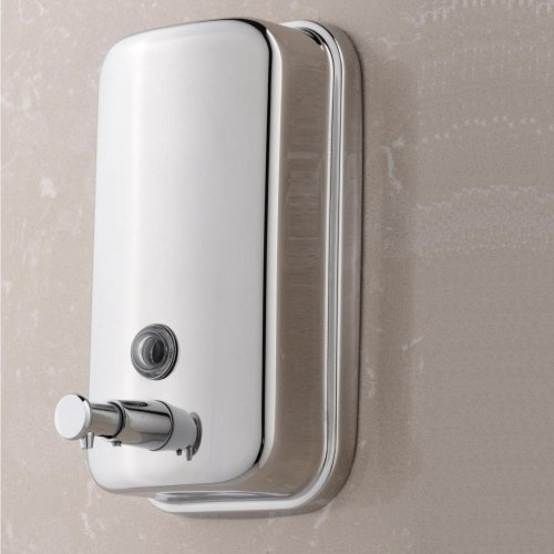 LightInTheBox 500ml Classic Series Surface-Mounted Stainless Steel Manual Wall-Mount Soap Dispenser For Bathroom Kitchen Marketplace Hotel Restaurant (Dispenser Wall Mount Soap Series)