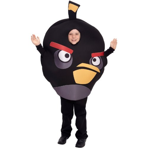 Angry Birds Child One Size Fits Most Paper Magic Group Halloween Costume (Black) (Paper Magic Group Costumes)