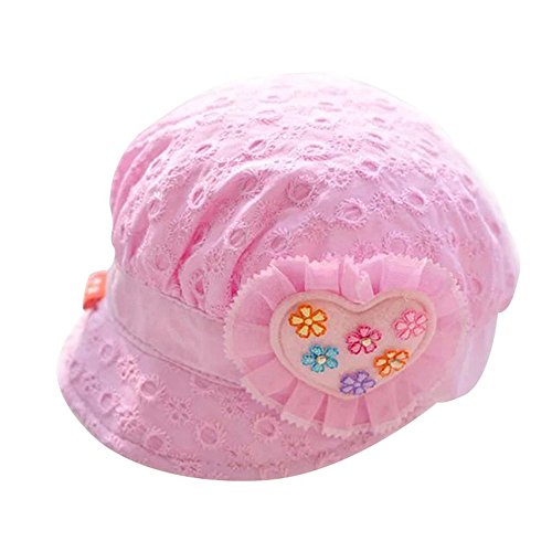 Amazon.com  Iridescentlife Flower Baby Girls Hats Princess Summer Baby Sun  Cap (Blue)  Clothing 02cbc513453