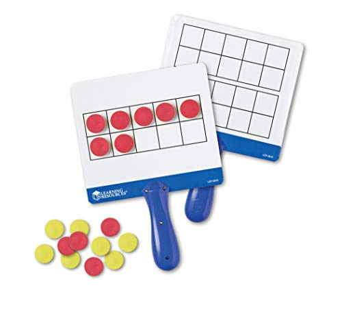 Resources Foam Magnetic Learning (Learning Resources Magnetic Ten-Frame Answer Boards, Set of 4 with 100 counters (Renewed))