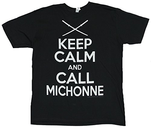 The Walking Dead Mens T-Shirt - Keep Calm And Call Michonne (Medium) Black