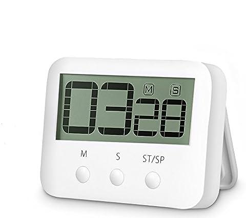 Digital Countdown Timer - Countdown Clock Digital Kitchen Timer Big Digits Cooking Timer Alarm Clock Interval Timer Magnetic Countdown Timer Loud Alarm Stopwatch Cooking Timer (Kitchen Digital Clock)