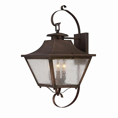 Acclaim 8722CP Lafayette Collection 3-Light Wall Mount Outdoor Light Fixture, Copper -