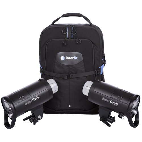 Interfit S1 On-Location Portable 2-Light Backpack Kit by Interfit Photographic